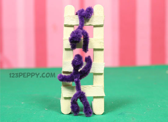 A Popsicle Stick Ladder Man