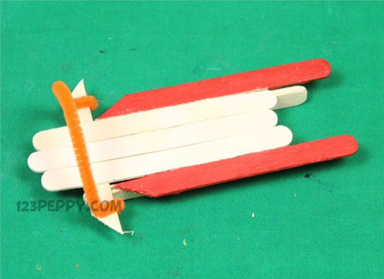A Popsicle Stick Sled