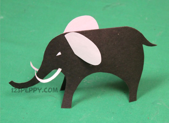 To Make Cardstock Elephant Step By Picture And Video Tutorial