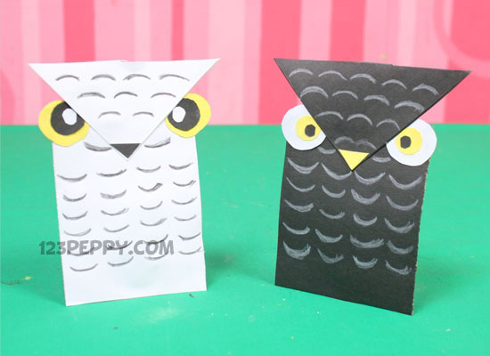How To Make Cardstock Owl Online 123Peppy
