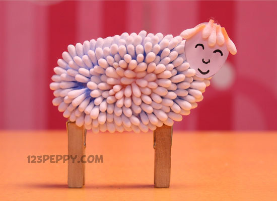Cotton Buds Sheep