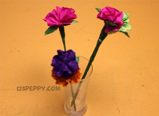 How to make crepe paper flower online 123peppy crepe paper flower mightylinksfo