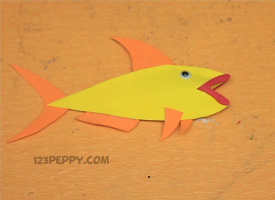 A Finger Puppet - Fish