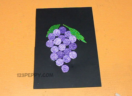 Grapes Art And Craft a Beautiful Grapes Craft