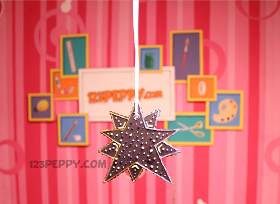 Glitter Star A Simple Craft Idea For This Christmas Time Learn It With Pictured Instructions And Decorate Your Sweet Home These Wonderful Stars On
