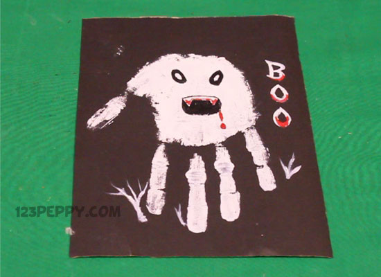 Handprint Angry Ghost