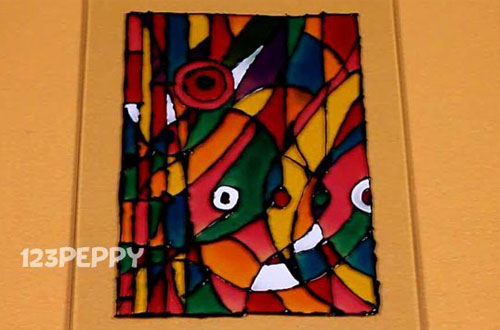 How to make an Abstract Glass Painting Online: 123Peppy.com