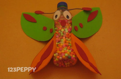 How to Make a Butterfly with Recycled Materials