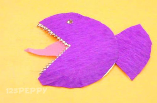 Sea animal crafts project ideas online for How to make fish