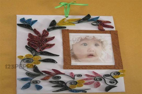 how to make a floral photo frame