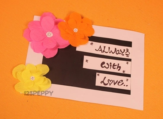 Greeting card crafts project ideas online 123peppy flower card are you ready to make another simple greeting card craft this is the time you learn to make a simple flower card you can easily make this m4hsunfo
