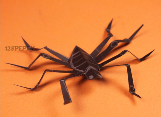 How To Make Paper Spider Online 123Peppy