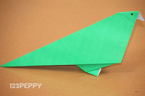 How To Make A Parrot With Color Paper
