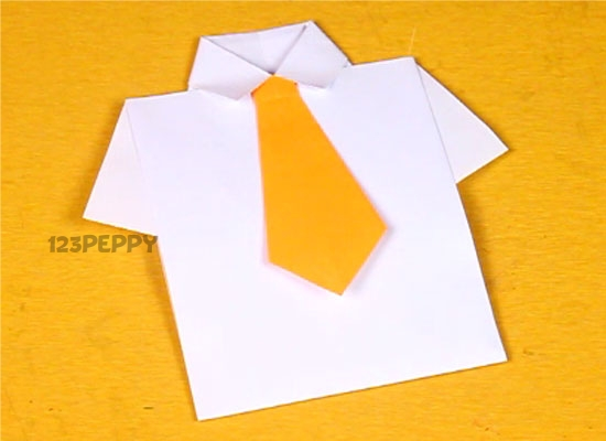 Greeting card crafts project ideas online 123peppy you can easily make this shirt greeting card m4hsunfo