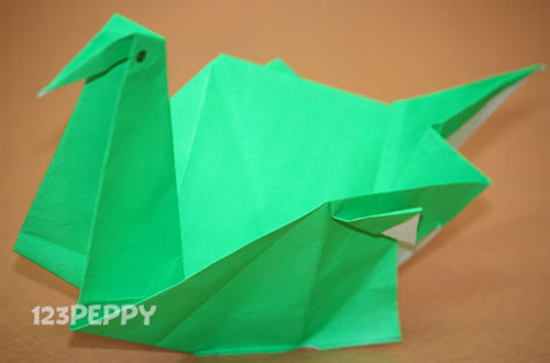 How To Make A Swan With Color Paper Online 123peppy
