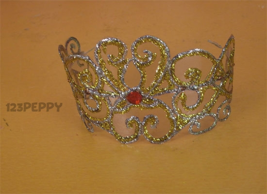 How to make a wedding crown online for Art and craft crown