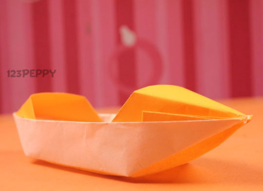 How To Make Origami Boat Online 123Peppy