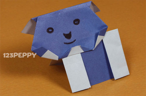 How to Make a Bear with Color Papers