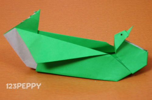 How to Make a Bird Shaped Box with Color Paper