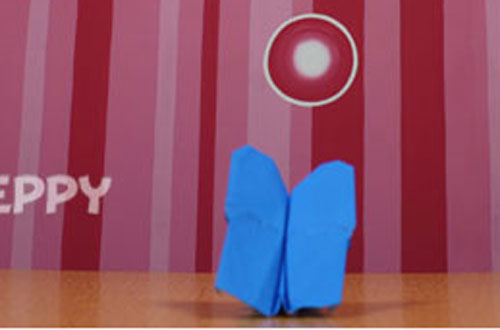 How to Make a Butterfly with Color Paper