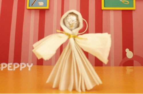 How to Make Christmas Angel with Tissue Papers