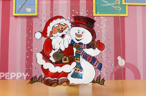 How to Make Santa with Snowman Christmas Glass Painting