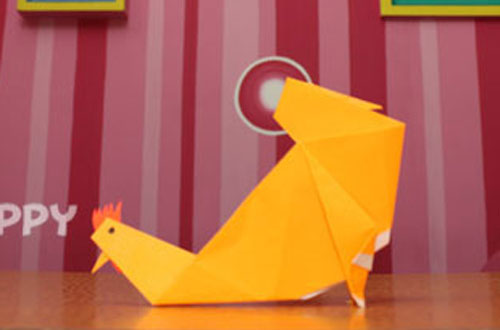 How to Make a Hen with Color Papers