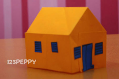 how to make a house with color papers - Color Papers