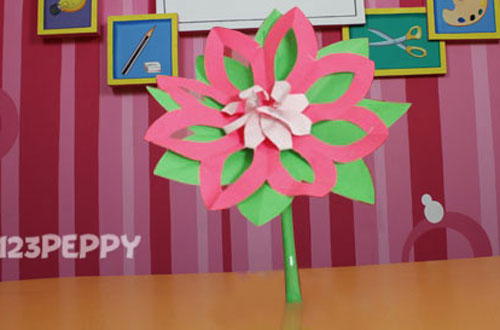 How to Make a Lotus with Color Papers