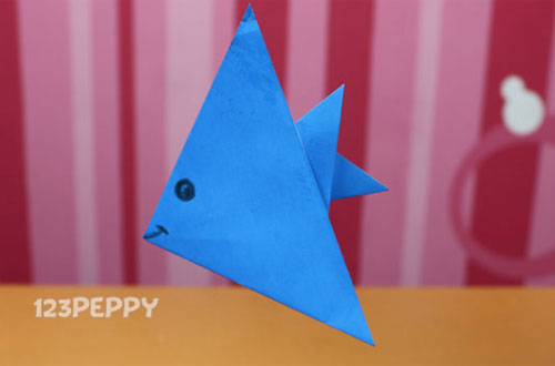 How to make A Paper Fish Online: 123Peppy.com