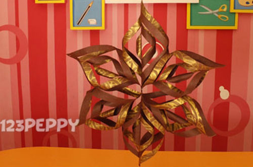 How to Make Christmas Star with Cardstocks  Step by Step Picture and