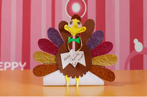 How to Make a Turkey with Color Papers