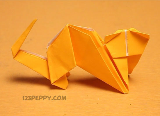 Paper Folding Instructions Attention Kids And Origami Cat