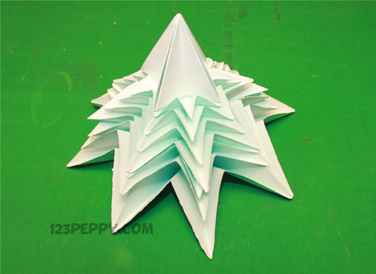 How To Make Origami Christmas Tree Online 123Peppy