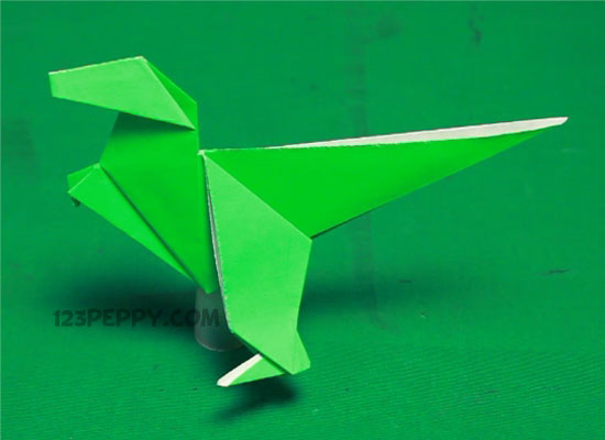 How To Make Origami Dinosaur Online 123Peppy