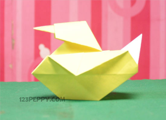 How To Make Origami Duck Online 123peppy