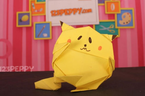 How To Make Origami Pikachu Online 123peppy