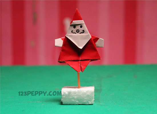 How To Make Origami Santa Online 123peppy