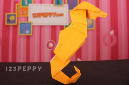 How To Make Origami Seahorse Online 123peppy