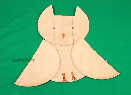 Palm Leaf Plate Owl