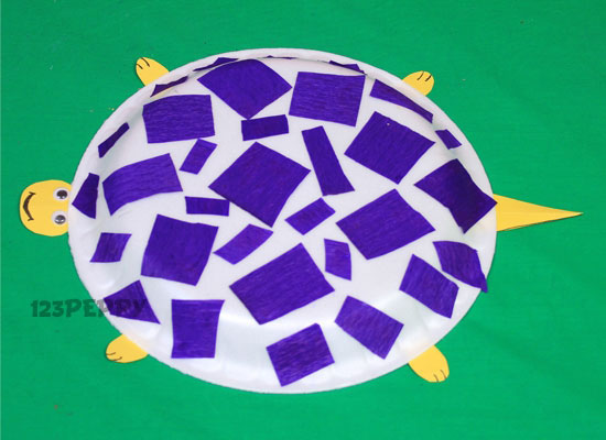 How To Make Plate Turtle Step By Picture And Video Tutorial