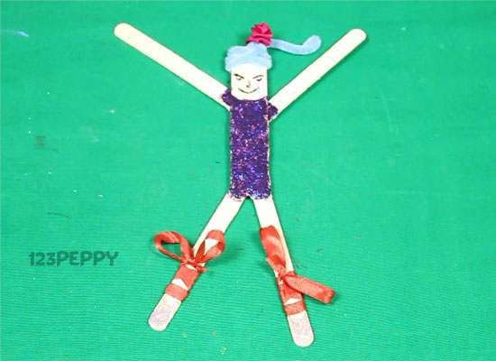a Popsicle Stick Girl