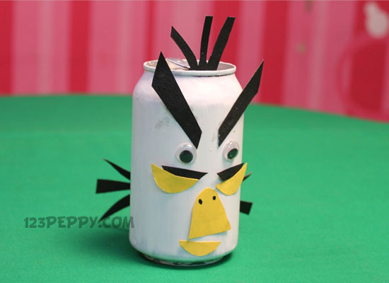 These kinds of crafts; Tin Angry Bird & Bird Crafts Project Ideas Online: 123Peppy.com