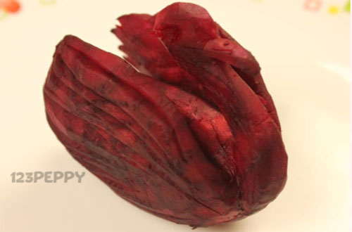 Vegetable Carving - Swan with Beetroot