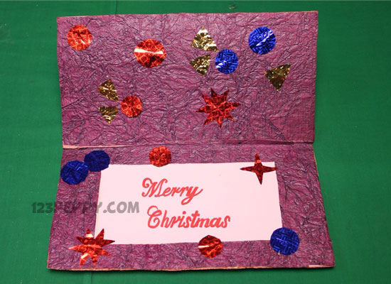Christmas Card An Inexpensive But Decorative Craft Idea For You Learn How To Make This Creative With Our Pictured Instructi