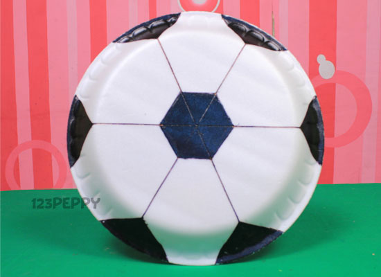 soccer craft ideas how to make plate football 123peppy 2965